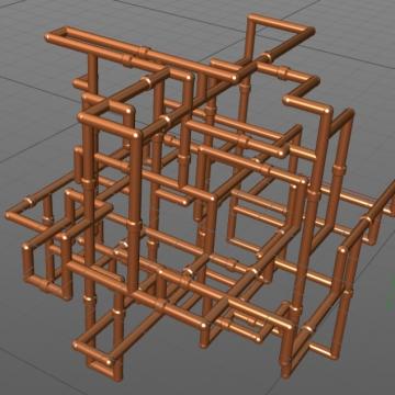 3D Model für Variante Nacheinander